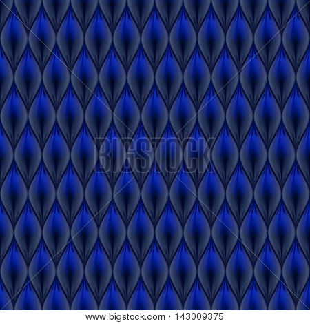 Quilted simple abstract seamless pattern. Black color colored with blue.