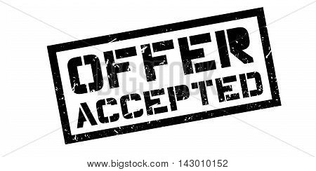 Offer Accepted Rubber Stamp