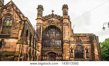 Chester Cathedral In Chester Hdr