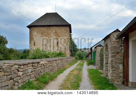 Old walls and buildings in Levoca Town Slovakia.