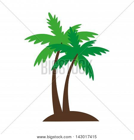 palm summer natural sand beach sea single palmtree vector