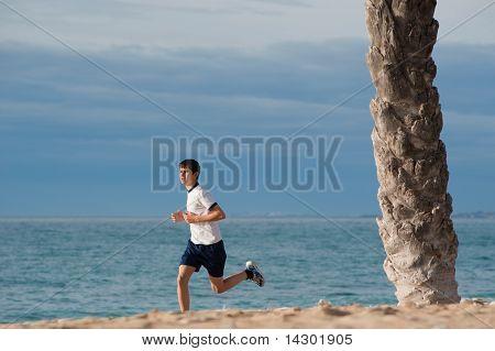 Teenager jogging