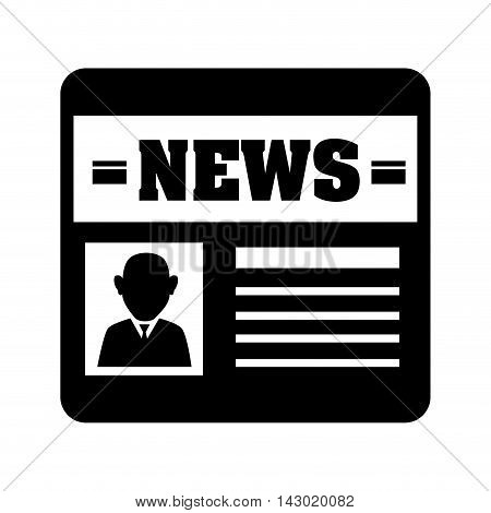 newspaper communication report news journalist publication media document vector illustration isolated