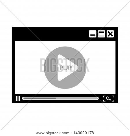 digital journalism news internet connection play media vector illustration isolated