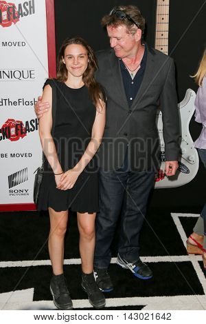 NEW YORK-AUG 3: Actor Aidan Quinn (R) and daughter Ava Quinnn attend the 'Ricki And The Flash' New York premiere at AMC Lincoln Square Theater on August 3, 2015 in New York City.