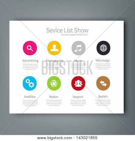 Multipurpose template for presentation slides with graphs and charts Perfect for your business report or personal use.