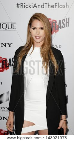 NEW YORK-AUG 3: TV personality Carmen Carrera attends the 'Ricki And The Flash' New York premiere at AMC Lincoln Square Theater on August 3, 2015 in New York City.