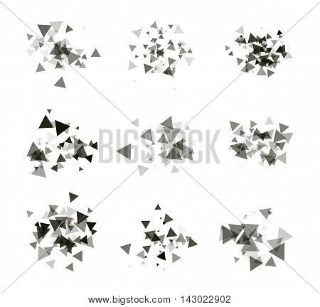 A collection of stand-alone monochrome black elements for design of posters cards brochures and site titles. Isolated objects on white background can be edited 3. Vector illustration