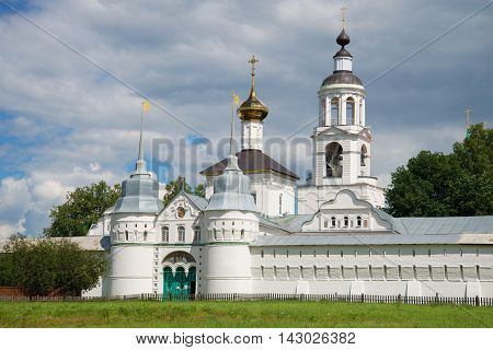 Holy gates and Church of St. Nicholas in Vvedensky Tolgsky convent. Yaroslavl the Golden ring of Russia