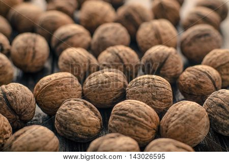 Walnuts. Walnuts an market. Background of walnuts. Healthy walnuts