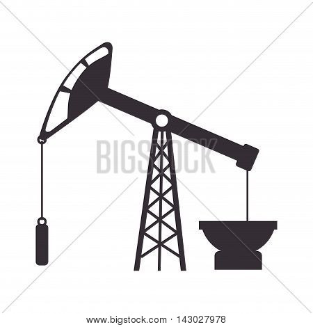 oil rig tower crane drilling industry petrol vector illustration isolated
