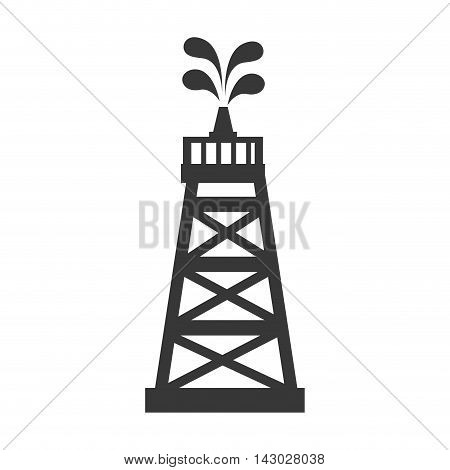oil tower petroleum industrial industry structure vector illustration isolated