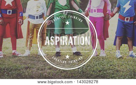 Aspiration Desire Goal Hope Innovation Target Concept