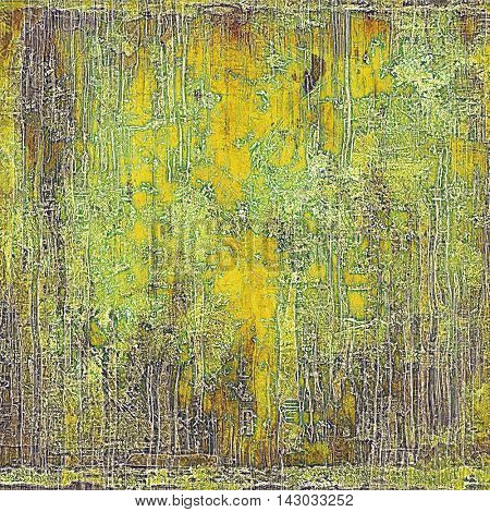 Grunge background or vintage texture in traditional retro style. With different color patterns: yellow (beige); brown; green; purple (violet); gray