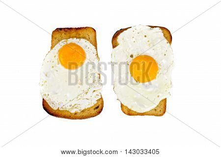 Toast With Egg Isolated