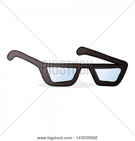freehand drawn cartoon spectacles