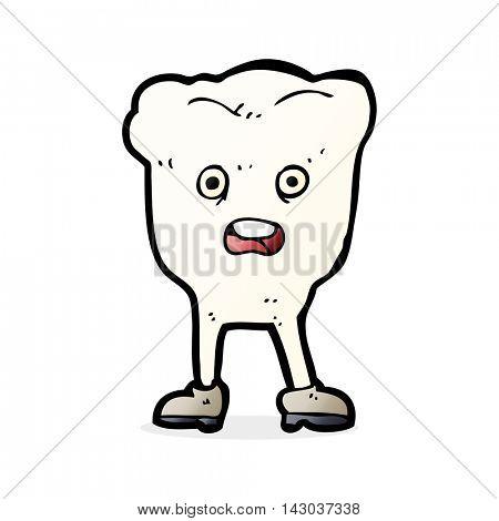 cartoon tooth looking afraid