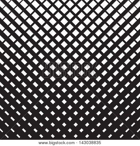 Line halftone pattern with gradient effect. Diagonal intersecting lines. Template for backgrounds and stylized textures. Design element. Vector illustration in EPS8 format.