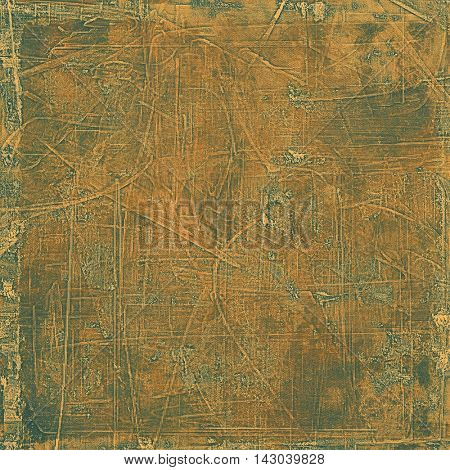 Creative vintage grunge texture or ragged old background for art projects. With different color patterns: yellow (beige); brown; black; gray