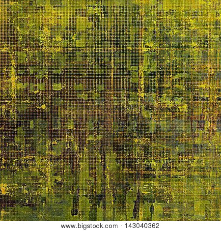Grunge texture, aged or old style background with retro design elements and different color patterns: yellow (beige); brown; green; blue; gray