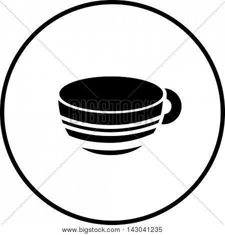 large ceramic mug symbol