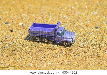 the Toy truck on a sunny day