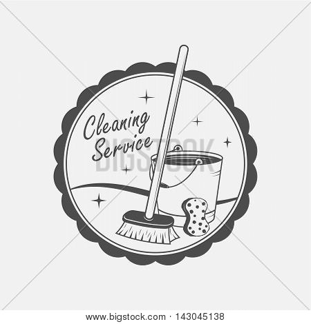 cleaning service emblems labels and design elements