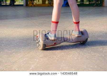 Girl On A Hoverboard