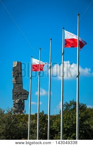 Monument commemorating first battle of Second World War and Polish Defense War