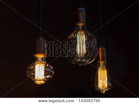 Retro luxury interior lighting lamp decoration. Interior
