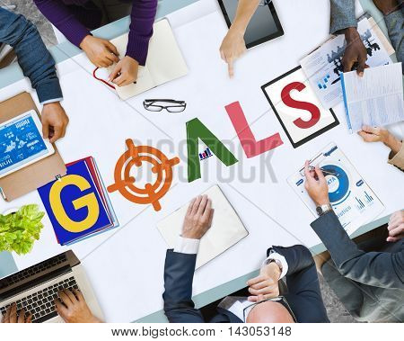 Brand Branding Project Goals Word Concept