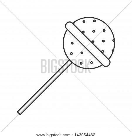 flat design candy lollipop icon vector illustration
