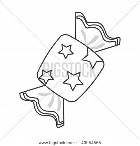 flat design wrapped candy icon vector illustration