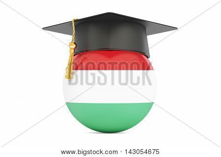 education and study in Hungary concept 3D rendering isolated on white background
