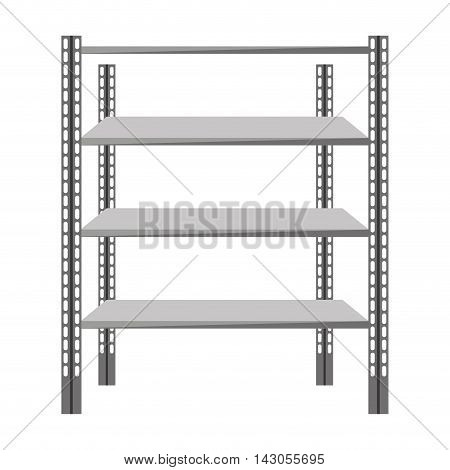 metal shelf isolated icon vector illustration design