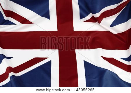 Closeup of British Union Jack flag