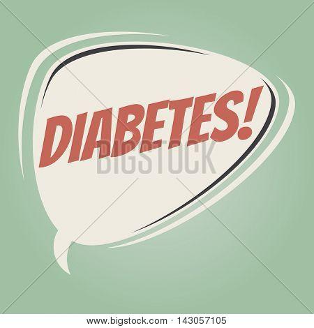 diabetes retro cartoon balloon