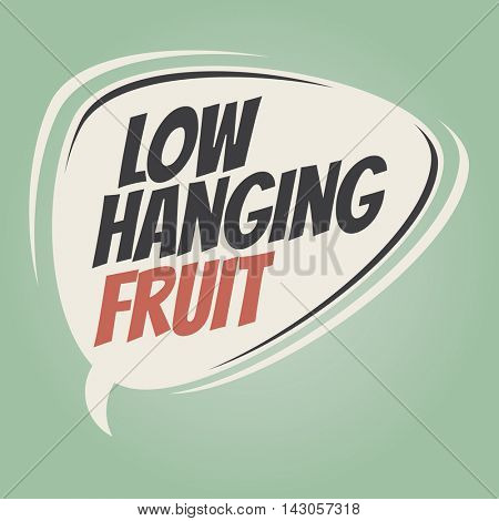 low hanging fruit retro cartoon balloon