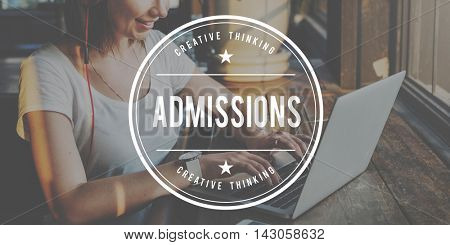 Admissions Entrance Examination University College Concept