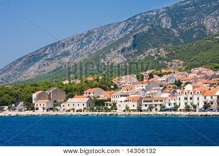 View To The Town Of Bol. The Island Of Brac. Croatia