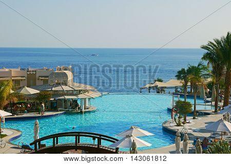 Beautiful pool in Sharm El Sheikh, EGYPT.