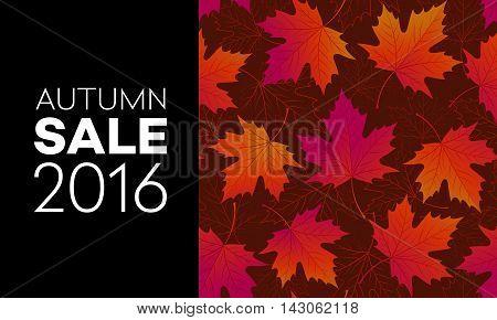 Autumn seasonal banner design. Fal leaf. Vector illustration EPS10