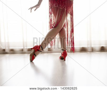 Legs Of Woman Dancing