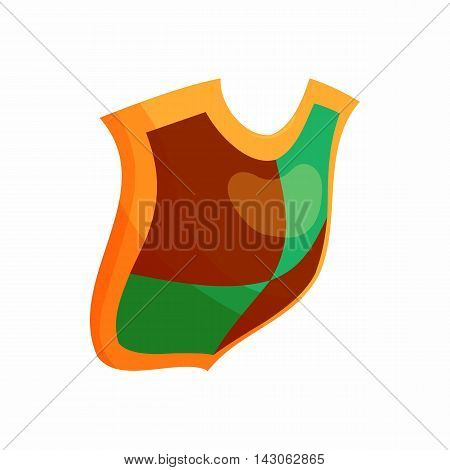 Protection shield concept icon in cartoon style isolated on white background