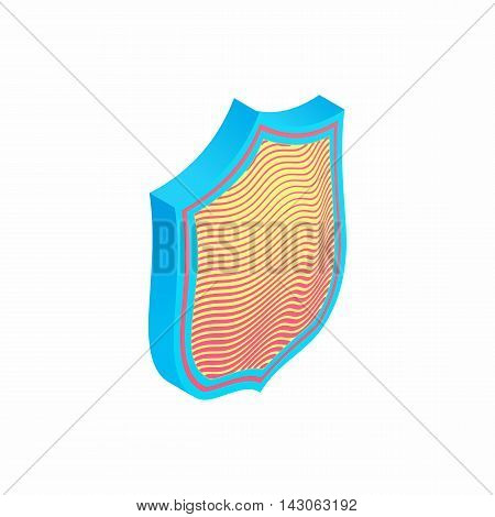Protection shield icon in isometric 3d style isolated on white background