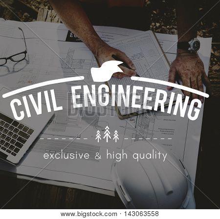Civil Engineering Blueprints Building Architect Concept