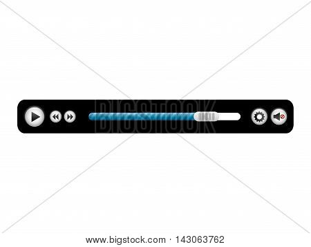 media player control panel icon vector illustration design