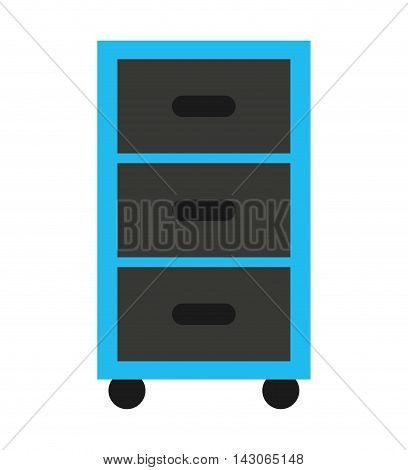 plastic drawers isolated icon vector illustration design
