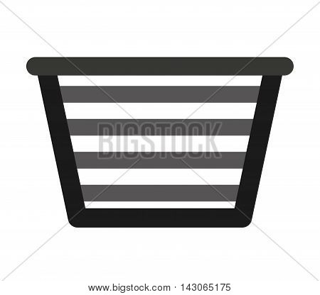 basket clothes isolated icon vector illustration design
