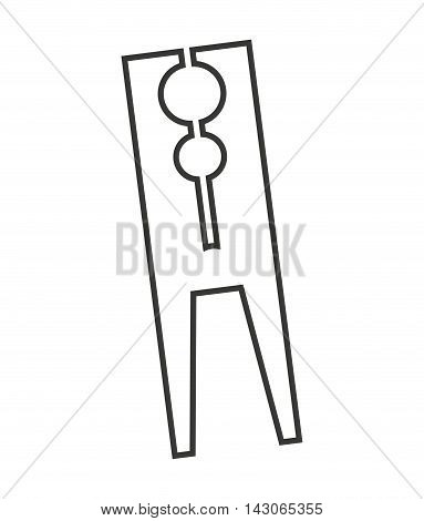clothes peg isolated icon vector illustration design